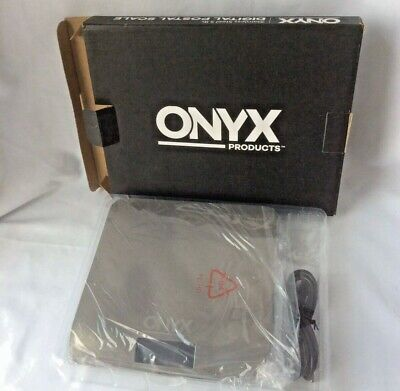 Onyx Digital Postal Scale 5 Pound Stainless Steel New Sleek Usb Powered