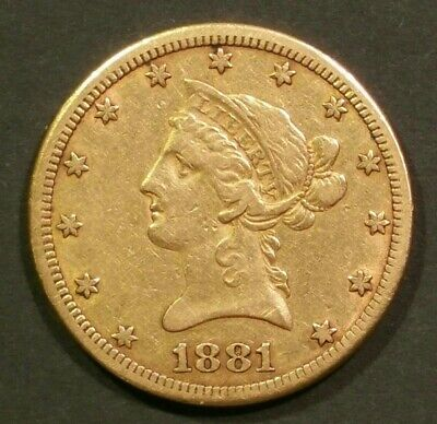 1881-CC $10 Dollar Liberty Gold Eagle Carson City Coin Carson City Gold Coins
