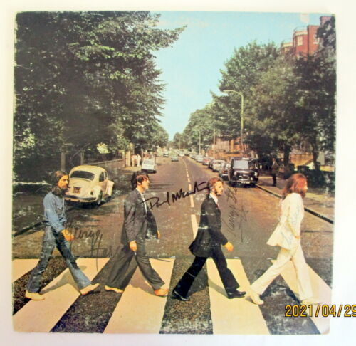 Signed The Beatles Abbey Road Album No COA From Estate
