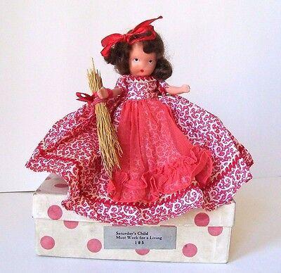 BISQUE *185 SATURDAY'S CHILD* IN BOX VINTAGE NANCY ANN STORYBOOK DOLL