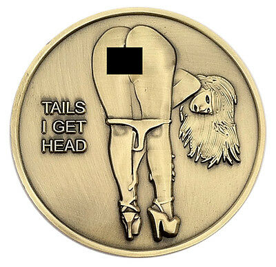 PinUp Babe Good Luck Heads & Tails Challenge Coin Art