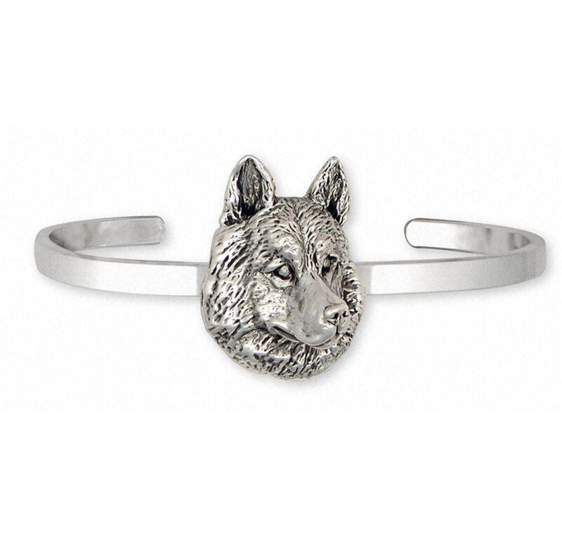 Siberian Husky Bracelet Jewelry Sterling Silver Handmade Dog Bracelet SB1-CB