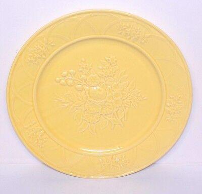 Vintage Bordallo Pinheiro Caldas da Rainha Ingrid Yellow Large Chop Serve Plate