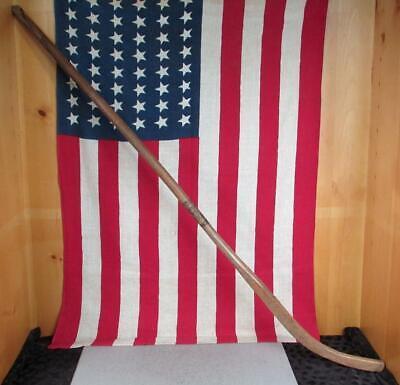 Vintage Artigianale Legno Ghiaccio Hockey Stagno Bastone Antico Amish Giro di Il