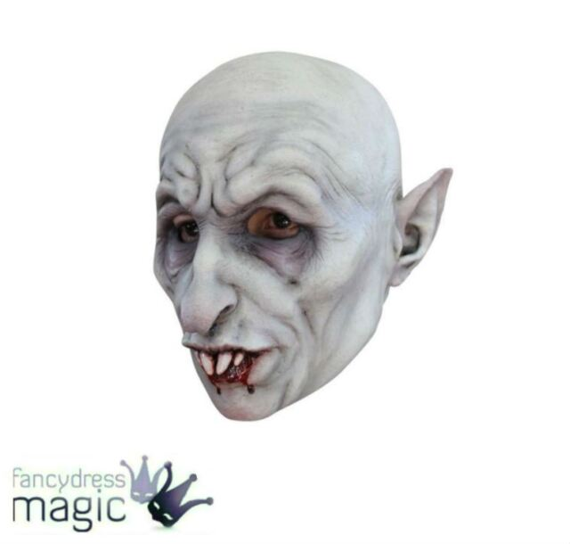 Deluxe Evil Nosferatu Vampire TV Film Scary Overhead Latex Horror Halloween Mask