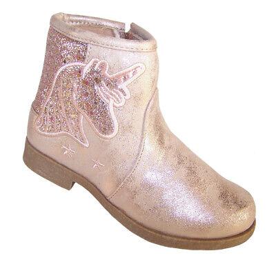 Mädchen Kinder Pink Glänzend Einhorn Glitzer Western Cowboy Stiefeletten Party