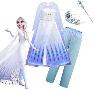 Halloween Cute Costume (Childrens Kids Girls Cute Princess Queen Elsa Halloween Costume Dress)