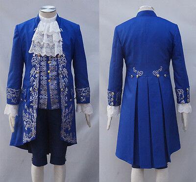 Customized 2017 Beauty And The Beast Prince Adam Costume Halloween Wedding Cos