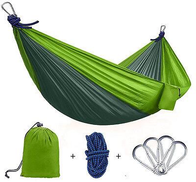 Tragbaren Hängematte Camping Garten Reise Outdoor Belastbar bis 200 kg Nylon NEU