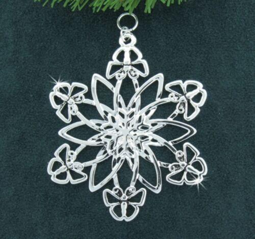 Butterfly & Flower SnowWonders® Snowflake Ornament/Pendant