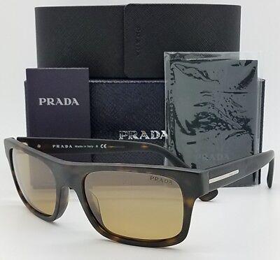 New Prada sunglasses PR 18PS HAQ6S1 Tortoise Bronze Sport Wrap PR 18 (6s1 Prada Sunglasses)