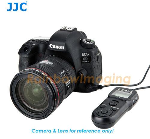 JJC Intervalometer Timer Remote Shutter Cord Canon R5 EOS 6D 7D Mark II 5D IV
