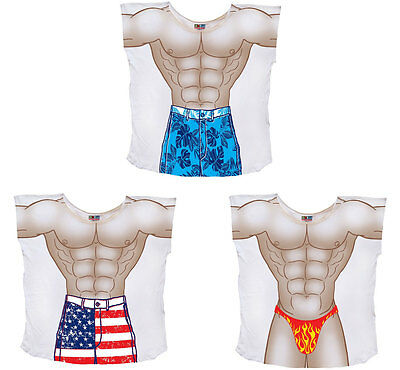 Muscle Guy Mens Coverup T-Shirt - Cool Beachwear, Halloween costume, nightshirt](Cool Guy Costumes Halloween)