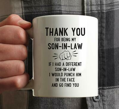 Thank You for Being My Son-in-Law, Punch in Face Mug - Gift Christmas (Face For You)