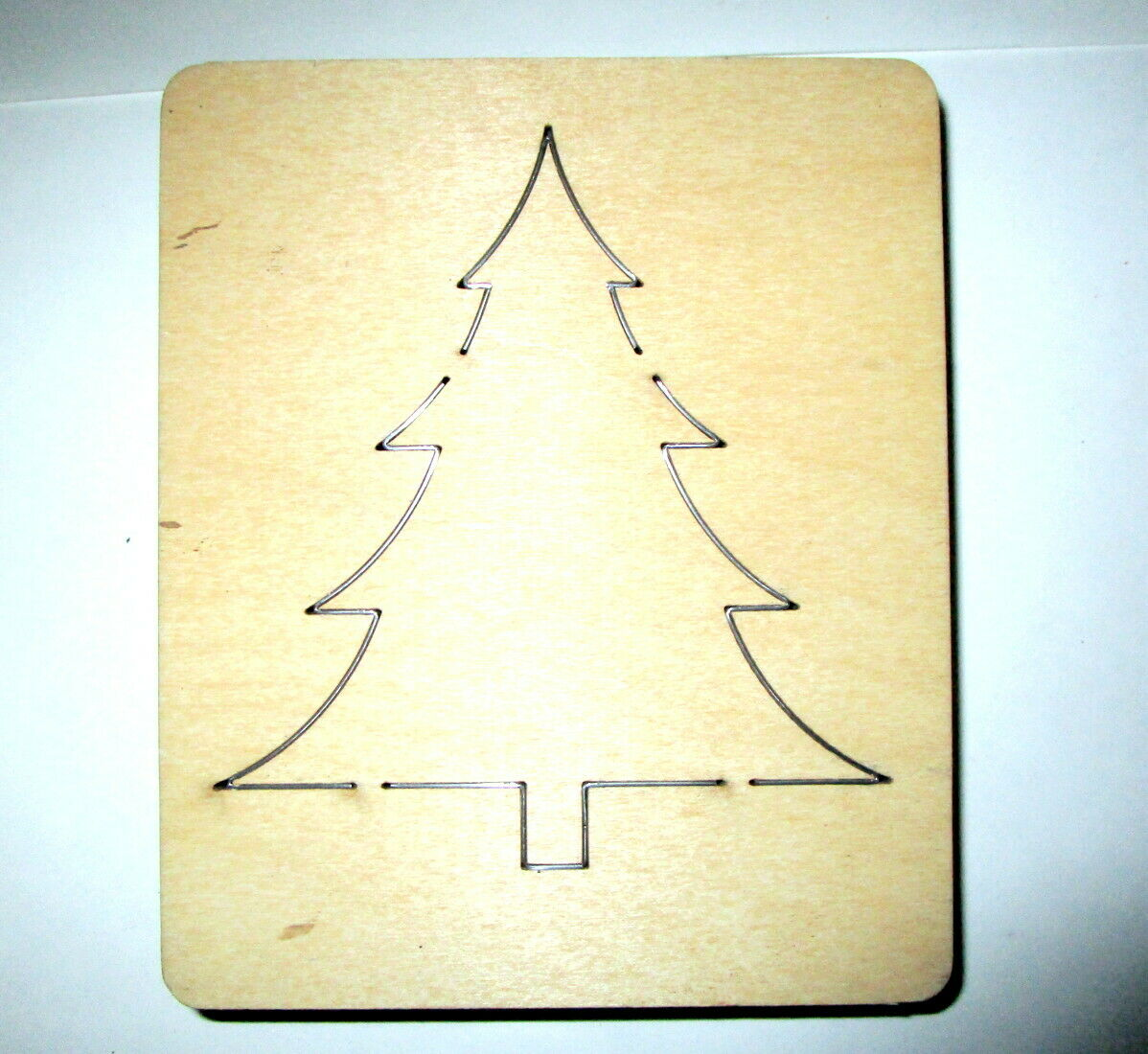 Ellison Accucut Wood Die Cut CHRISTMAS TREE Lot 2 - $10.00