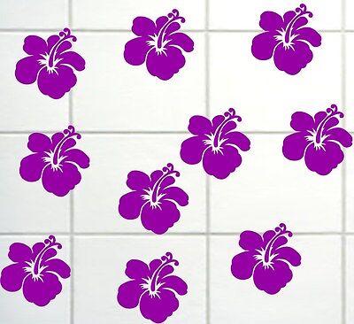 hibiskus blumen bad fliesenaufkleber fensterbilder spiegel