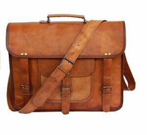 1426518ea Handmade Men's Vintage Leather Satchel Messenger Bag for sale online ...