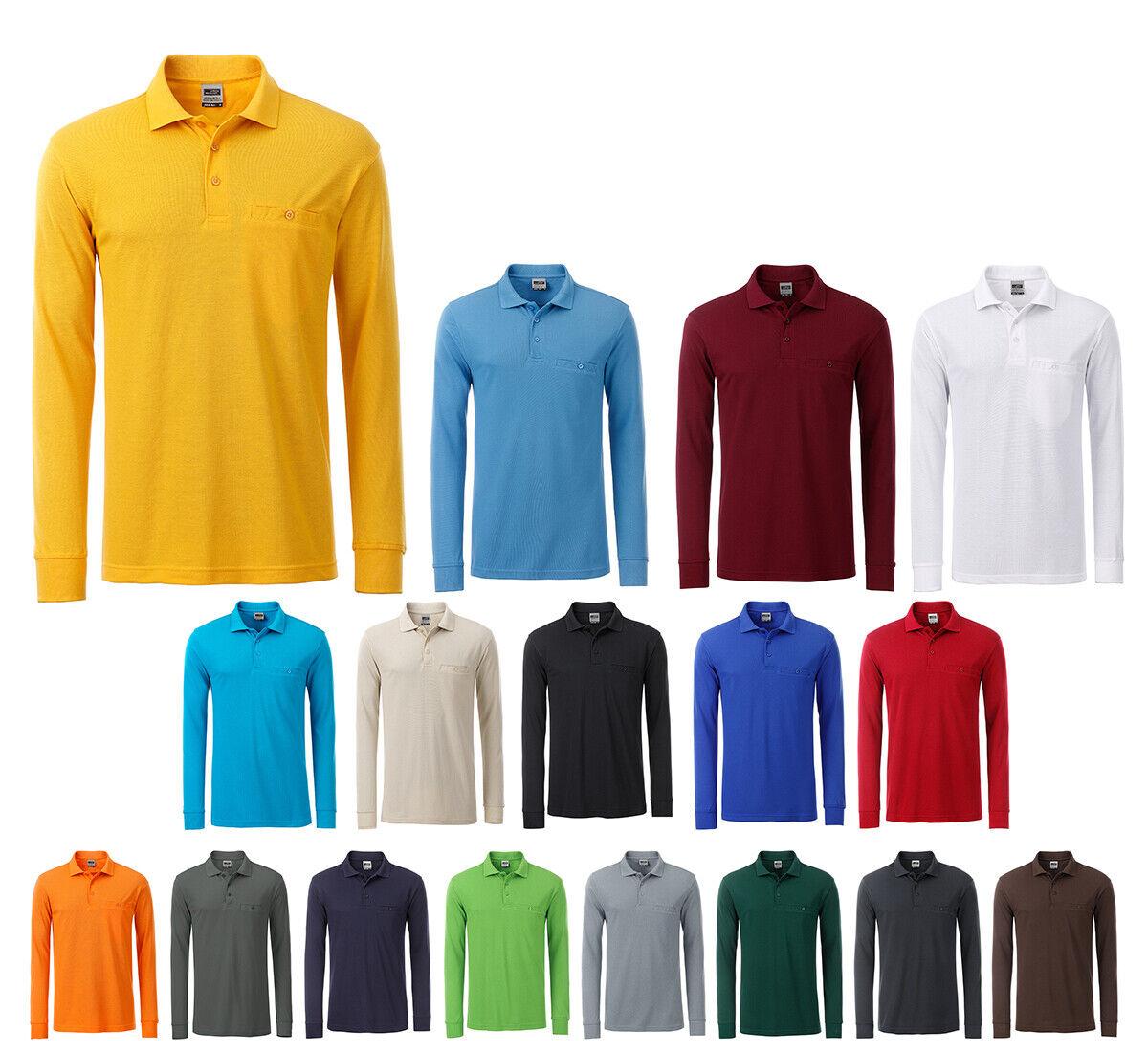 Herren Langarm Polo Shirt Poloshirt Workwear Arbeitskleidung