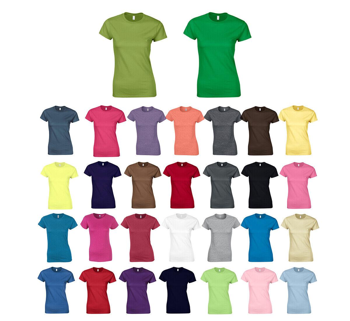 Damen Basic T-Shirt rundhals Softstyle® Ladies´ T- Shirt Gildan