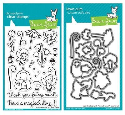 Lawn Fawn Fairy Friends - Clear Stamp (LF1057) or Custom Die (LF1058)