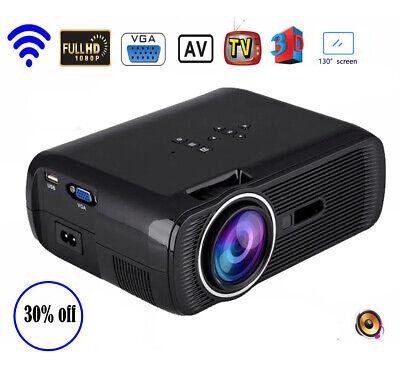 Mini 3000 LM LED Projector Beamer FHD 1080P 3D Home Theater HDMI USB HDMI