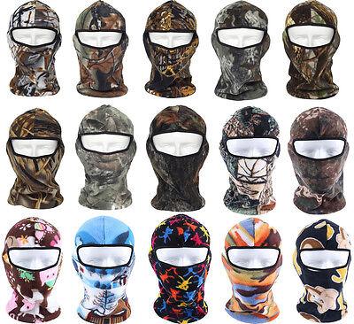 Outdoor Winter Warm Camo Thermal Fleece Ski Hunting Balaclava Full Face Mask US Camo Fleece Face Mask