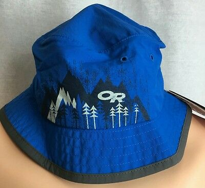 NEW Kids Medium Bucket Hat Sun UPF 50+Outdoor Research Solstice Glacier Blue NWT