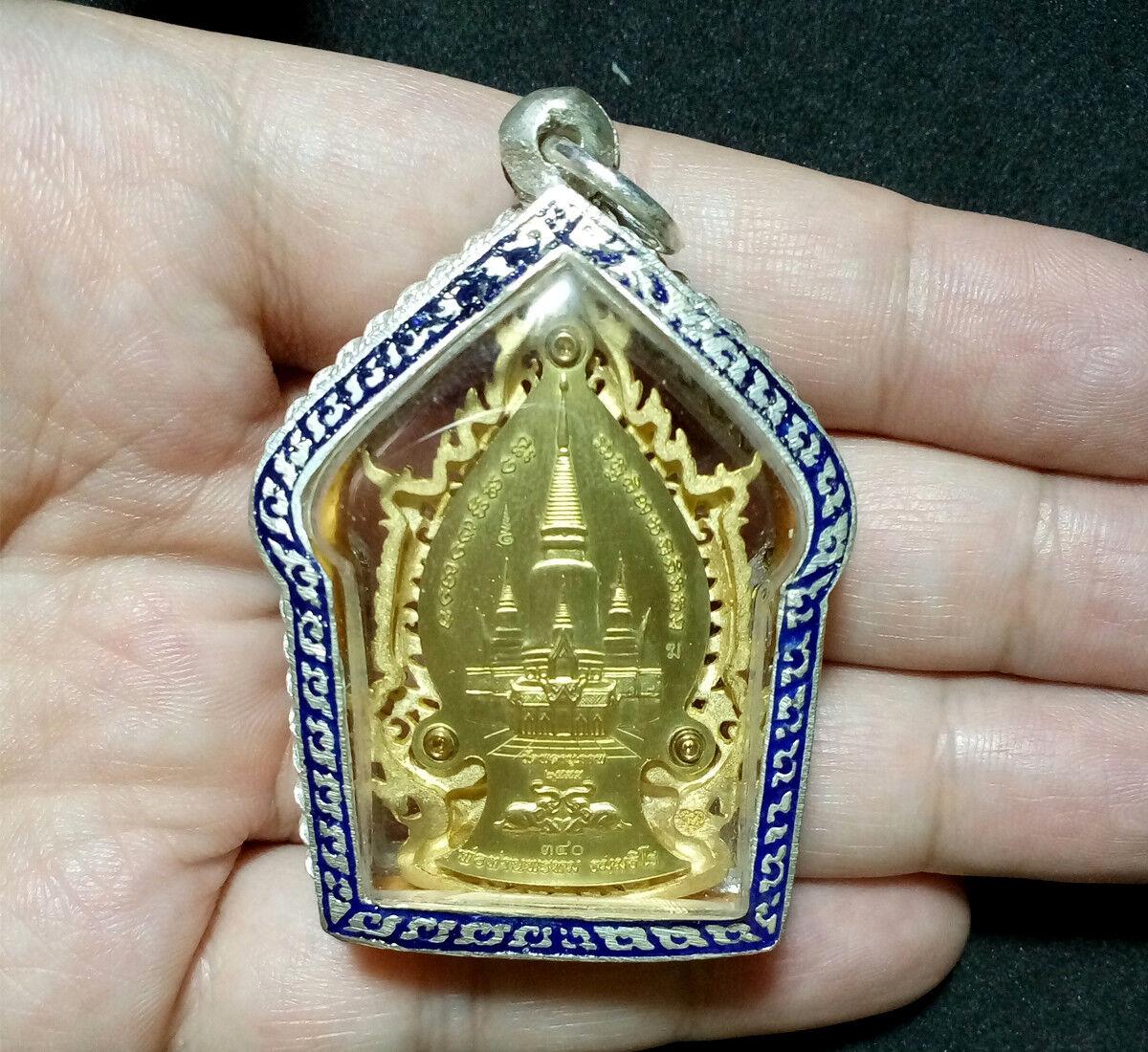 PHRA PIDTA LP RARE OLD THAI BUDDHA AMULET PENDANT MAGIC ANCIENT IDOL#340