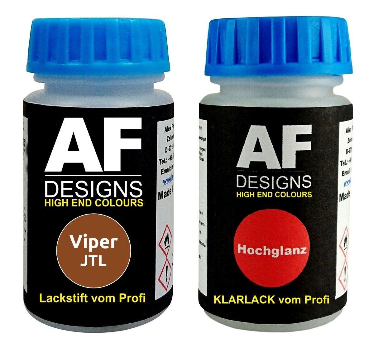 Lackstift Viper JTL Chestnut Klarlack je 50ml Autolack Basislack SET