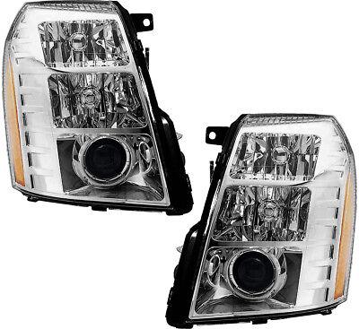 HID Headlights Headlight Assembly w/Bulb Pair Set for 07-08 Cadillac (Cadillac Escalade Headlight Assembly)