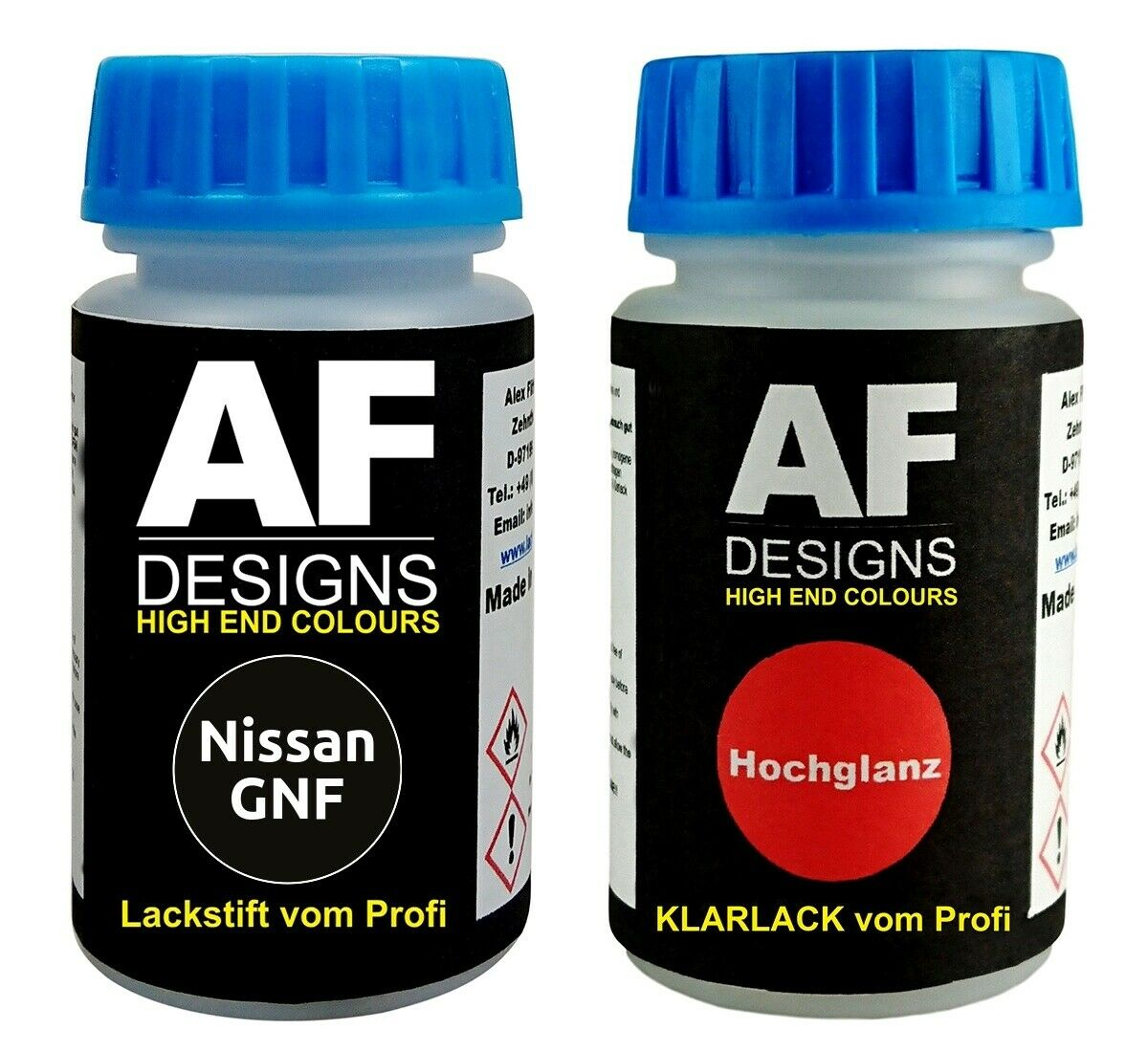 Lackstift Nissan GNF Black Perl Klarlack je 50ml Autolack Basislack SET