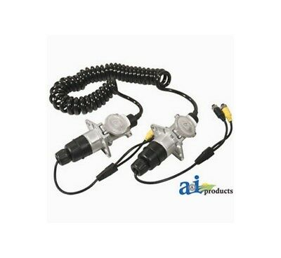 Coiled Cable Kit (Cabcam Trailer Cable Kit 7 Pin Coiled Aluminum Connectors 2 Camera Tck523)