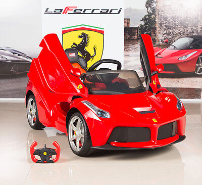 12V Ferrari LaFerrari Kids Electric Ride On Car with MP3 and Remote Control Red