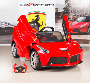 V Ferrari Laferrari Kids Electric Ride On Car With Mp And Remote Control Red