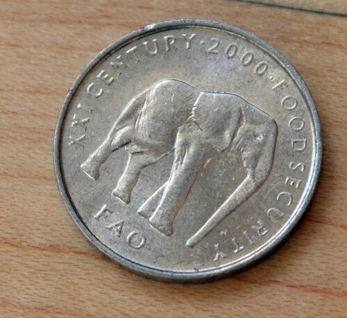 2000 Somalia 5 Shillings Elephant