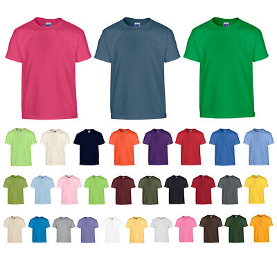 Heavy Cotton Kinder T-Shirt Shirt Jungen Mädchen 140 152 164 170 176 182