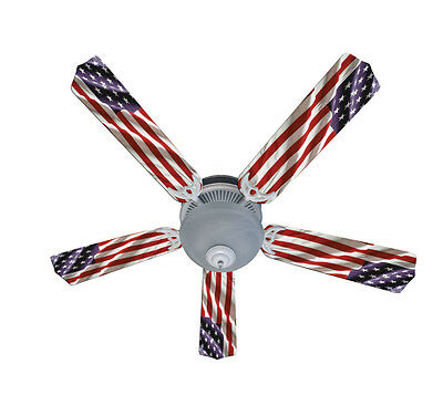 New AMERICAN FLAG PATRIOTIC Ceiling Fan 52