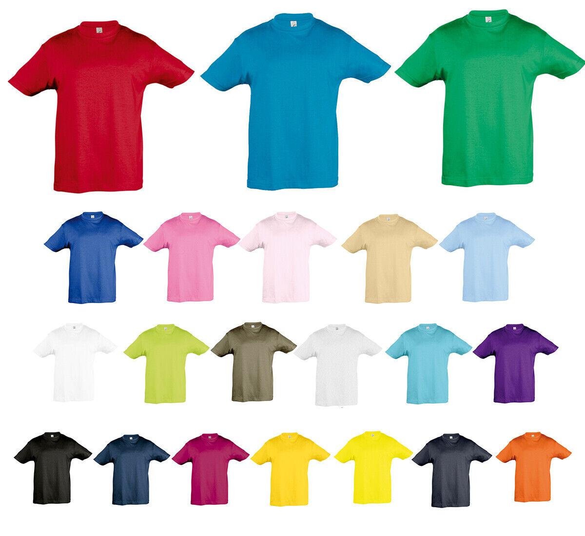 Kinder T-Shirt Shirt für Jungen und Mädchen 86 94 96 104 106 116 118 128 - 152