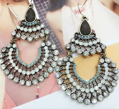 Wholesale MultiColor Crystal Rhinestone  Ear Drop Dangle Stud long 70mm Earrings - Longs Wholesale