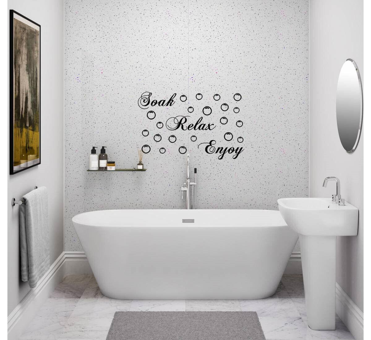 Home Decoration - BATHROOM Sticker Decal Soak Relax Enjoy Quote Wall Art DIY
