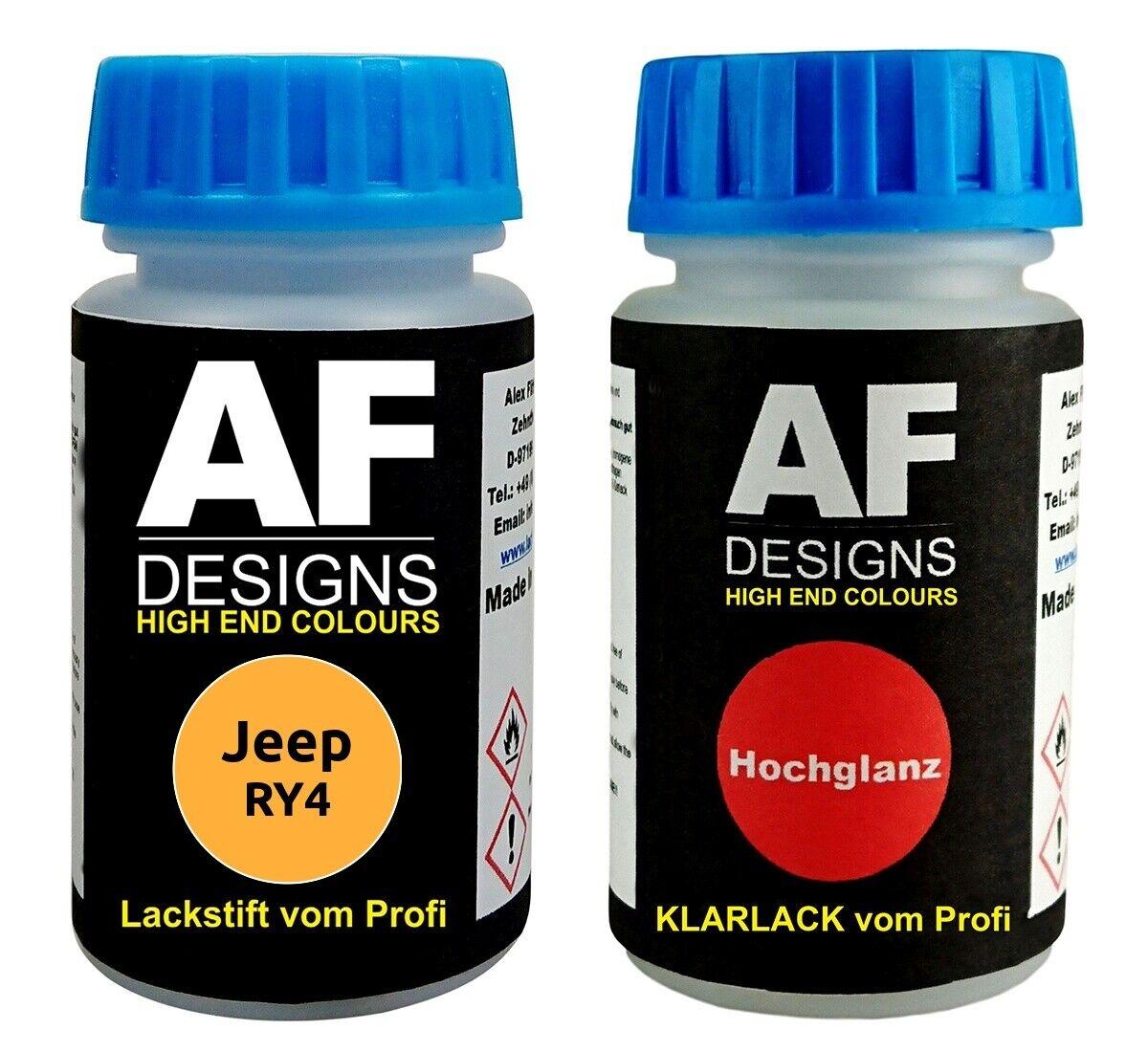 Lackstift Jeep RY4 Yellow Jacket Klarlack je 50ml Autolack Basislack SET