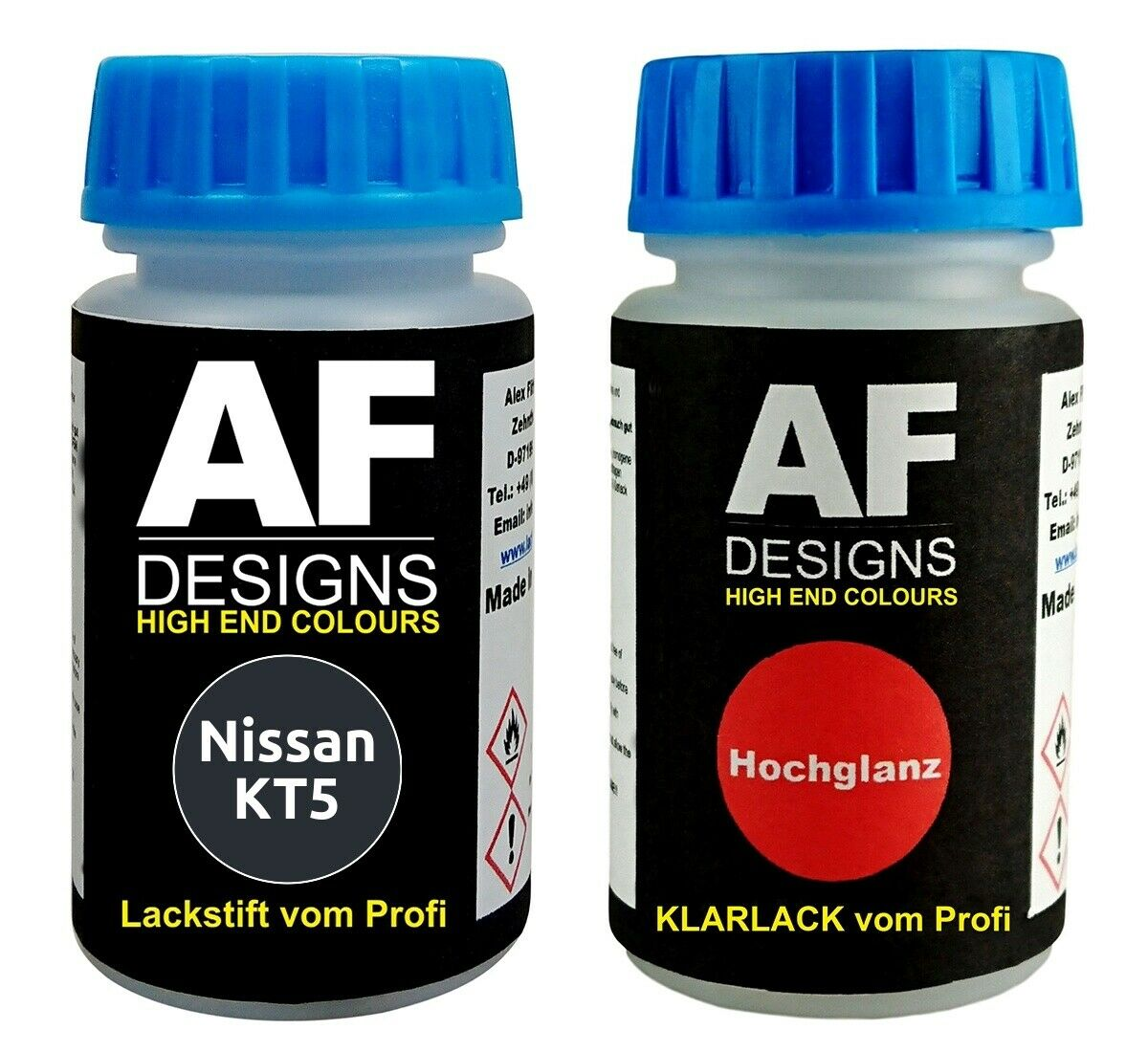 Lackstift Nissan KT5 Deep Wedgewood Blue Perl Metallic Klarlack je 50ml Autola