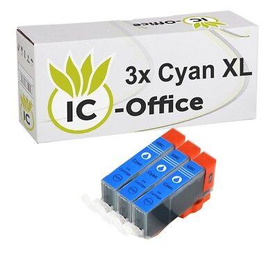 3 Patronen mit CHIP MX715 MX882 MX884 MX885 MX895 IP4850 CLI526 cyan NEU