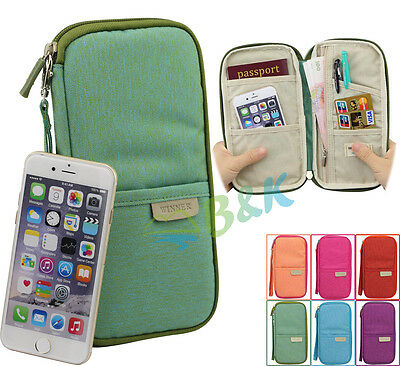 Travel Organizer Bag Money Passport Card Document Holder Wallet Handbag
