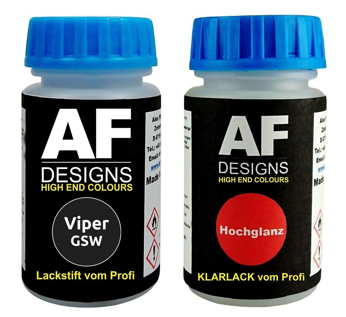 Lackstift Viper GSW Dark Carbon Perl Klarlack je 50ml Autolack Basislack SET