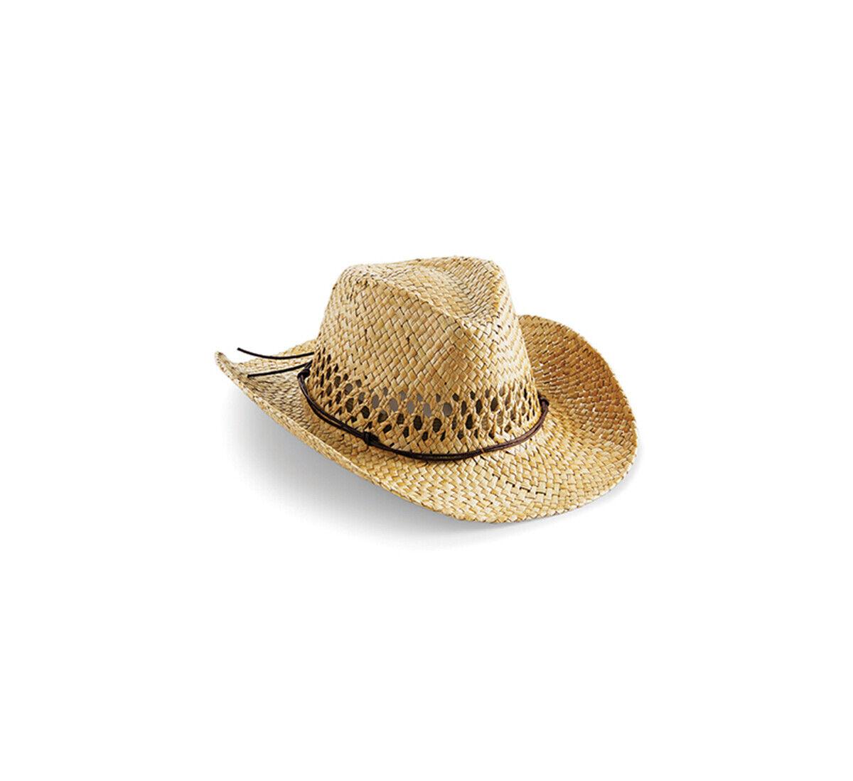 Herren Strohhut Western Cowboy Hut Sommerhut Sonnenhut