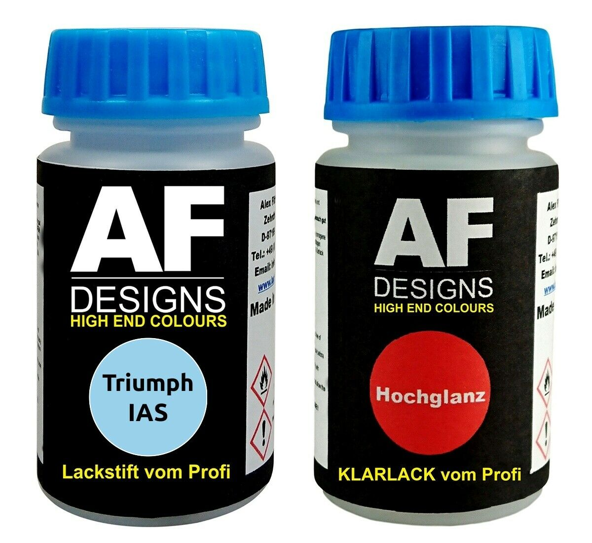 Lackstift Triumph IAS Mirage Metallic Klarlack je 50ml Autolack Basislack SET