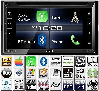 JVC Double Din DVD CD Player CarPlay Radio Bluetooth Pandora USB Aux