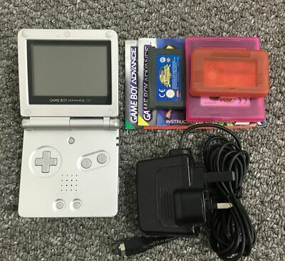 Nintendo Gameboy Advance SP Console Bundle Inc Official Charger + GBA Games
