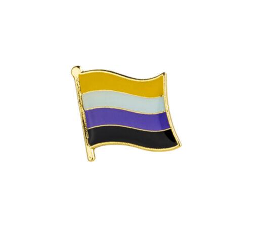 Non-Binary Flag Lapel Pin18mm x 10.5mm Gay Lesbian Pride LGBT Hat Tie Tack